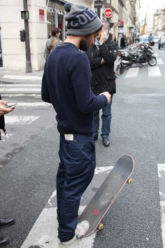 Skater Style. But tighter jeans.