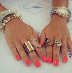 Nail Colour and Jewellery