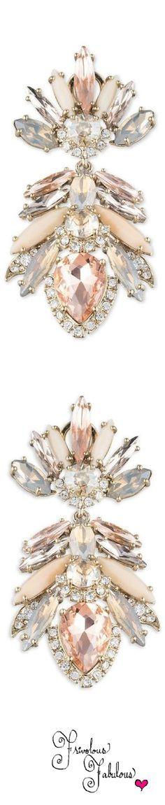 Rosamaria G Frangini   High Pink Jewellery   Marchesa Petunia Crystal Drop Earrings, via Marguerite Burril