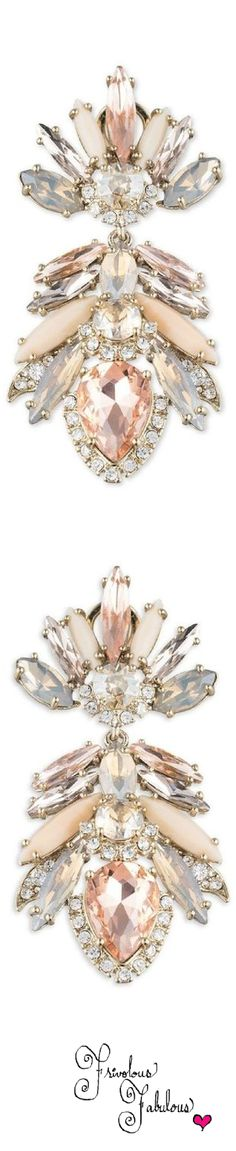 Rosamaria G Frangini | High Pink Jewellery | Marchesa Petunia Crystal Drop Earrings, via Marguerite Burril