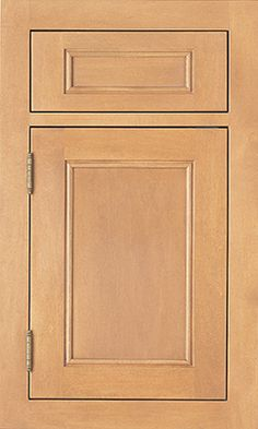 Cambridge Recessed door style by #WoodMode, shown in Sierra finish on maple.