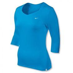 Nike 3/4 Sleeve Jersey Top in verschiedenen Farben mit DRI-FIT Material.    http://www.centercourt.de/Tennisbekleidung/Damen/Nike-3-4-Sleeve-Jersey-Top-blue-glow/black-1.html