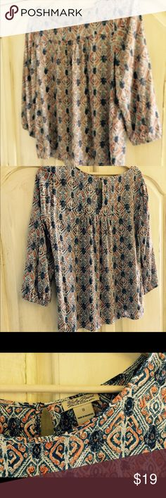 Lucky Brand blouse. Great condition, worn once. Lucky Brand Tops Blouses