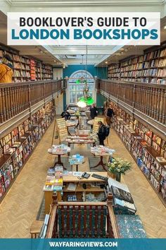 Make some time to browse these beautiful bookshops in London. These unique Central London bookstores have an indy ethic, niche offerings, cool vibes and cozy atmosphere. Explore England's love of bookstores and feed your need for books with fiction, non-fiction, travel books, maps and art books. Literary Travel, Travel Books, London Bookstore, London Travel, Travel Uk, Travel England, Beautiful Library, Amazing Destinations, Travel Destinations