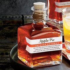 DIY - Apple Pie-Infused Bourbon Recipe MyRecipes.com bottles from specialtybottle.com