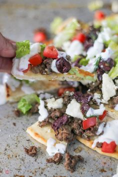 Love to grab a Gyro sandwich on the run? All the flavors of a Gyro but in the form of Nachos. Greek flavors like cucumber, dill, lamb, and Kalamata olives. Gyro Nachos with Pita Chips Recipe   Take Two Tapas