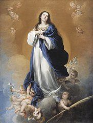 Oil Paintings - The Immaculate Conception   by Bartolome Esteban Murillo