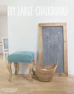 We Lived Happily Ever After: DIY Chalkboard