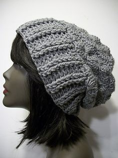 Ravelry: Akudo slouchy chunky Toque Hat pattern by Donna Rutledge-Okoro