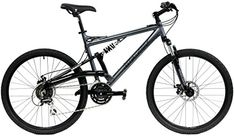 2017 Gravity FSX 10 Dual Full Suspension Mountain Bike with Disc Brakes Shimano Shifting Gray 17in ** You can find out more details at the link of the image.