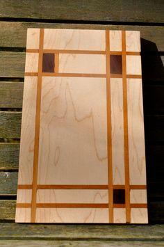 Walnut Cherry & Rosewood Cutting Board Piet Mondrian