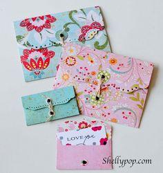 Elegant Eyelet Envelopes from shellypop.com using Lifestyle Crafts eyelet envelope dies. #diy