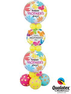 A balloon column would create and easy decor - or a surprise for Mother's Day! Balloon Centerpieces, Balloon Decorations, Balloon Ideas, Balloon Display, Balloon Gift, Mothers Day Balloons, Grandmother's Day, Gift Bouquet, Balloon Columns
