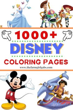 1000 Free Disney Coloring Pages For Kids - - Need a fun activity for the kids? Grab some crayons and have fun coloring these FREE 1000 Free Disney Coloring Pages. All your favorite Disney Characters! Free Disney Coloring Pages, Adult Coloring Pages, Coloring Pages For Kids, Coloring Books, Disney Coloring Pages Printables, Kids Colouring, Doodle Coloring, Mandala Coloring, Coloring Sheets