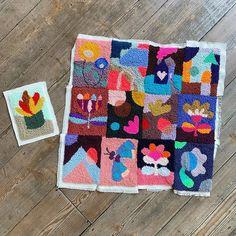 Eva Verbruggen - Textileartist (@hetateliervanevav) • Instagram-foto's en -video's Punch Needle, Quilts, Blanket, Instagram, Quilt Sets, Blankets, Log Cabin Quilts, Cover, Comforters