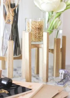 Give your paper clips a stylish home with this #DIY desk organization project.