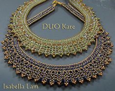 DUO KATE SuperDuo Beadwork Necklace