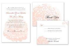 peonies flower wedding invitations - Google Search