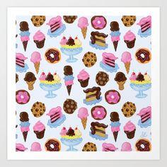 dessert cupcake cake ice cream cookie doughnuts