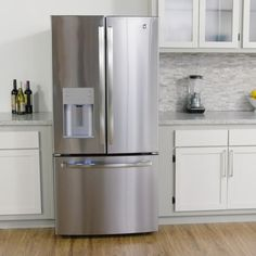 Good 33 In. W 23.8 Cu. Ft. French Door Refrigerator In Stainless Steel (Silver)
