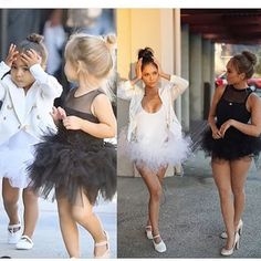 North West & Penelope Halloween Costume--- hahaha I wish we could pull this off! Costume Halloween, Halloween Inspo, Halloween Kostüm, Couple Halloween, Ballerina Halloween Costume, 90s Costume, Best Friend Halloween Costumes, Halloween Outfits, Halloween Costumes Bestfriends