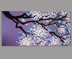Original Painting Cherry Blossom Painting Sakura Painting Art by Susie Tiborcz6 Cherry Blossom Watercolor, Cherry Blossoms, Sakura Painting, Japanese Cherry Tree, Hanging Art, Original Paintings, Moose Art, The Originals, Frame
