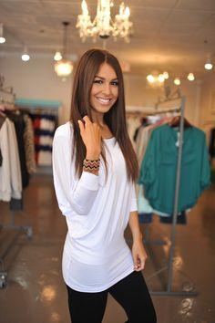 Dolman Tunic-White - Dottie Couture Boutique