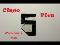 Origami - Papiroflexia. Número cinco / Number five