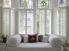 Our plantation shutters are made to measure for all interior windows. Our plantation shutters come in a range of different styles. Window Shutters Inside, Cafe Style Shutters, Cafe Shutters, Indoor Shutters, Interior Window Shutters, Interior Exterior, Interior Design, Interior Paint, Modern Shutters