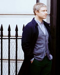 While I love John's jumpers, I think this is a great look for him for the new episodes. #Sherlock