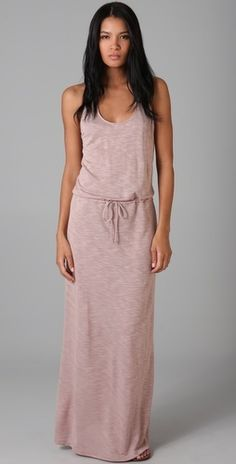 LANSTON long dress $110 #fashion #outfit #clothes #dress #maxi #long #summer #vacation #romantic #feminine #casual #pretty #style #stylish #clean #scoop-neck #pink #designer spring-2012-fashion