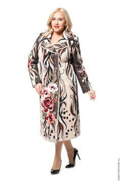 """Большие размеры ручной работы. Ярмарка Мастеров - ручная работа. Купить Пальто """"Анжелика"""". Handmade. Цветочный, большие размеры"""