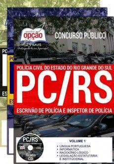 Promoção -  Apostila Concurso PC RS 2018 - ESCRIVÃO DE POLÍCIA E INSPETOR DE POLÍCIA  #Aprovado