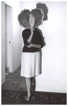 "Saul Steinberg:""Masks"" photo byInge Morath"