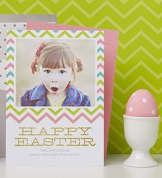 Wish a Happy Easter with special announcements from Tiny Prints.
