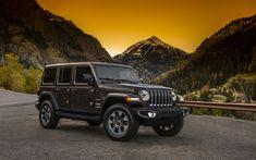 Télécharger fonds d'écran Jeep Wrangler, 2018 voitures, Vus, nouveau Wrangler, des montagnes, des Jeep
