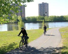 Montreal bike path - 10 bike-friendly cities around the globe