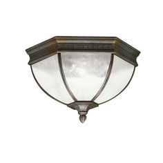 ~~~ 3 Upstairs Hallway Lights ~~~ Two Light Tannery Bronze Bowl Flush Mount : 9881TZ | Connecticut Lighting Centers