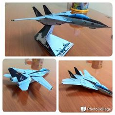 This aircraft paper model is a Grumman F-14A Tomcat, a variant of the Grumman F-14 Tomcat, which is a supersonic, twin-engine, two-seat, variable-sweep wing fighter aircraft, the papercraft is created by Eastern, and the scale is in 1:100.