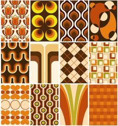 This wallpaper was bad enough the first time - I'm not thinking of having any on my walls!  Just researching 70s design.