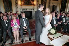 Wedding ceremony at Danson House