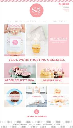 Looking for cupcake website design inspiration for your bakery or cake website? Check out our list of 10 beautiful cupcake website to inspire you! Website Design Inspiration, Website Design Layout, Layout Design, Website Designs, Website Ideas, Web Layout, Bakery Website, Restaurant Website Design, Food Web Design