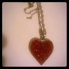 I just discovered this while shopping on Poshmark: Red Crystal heart. Check it out!  Size: OS