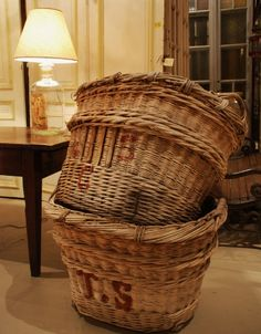 French Baskets used for collecting artichokes    elements.net.au