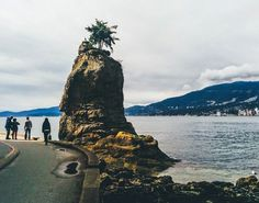 Siwash Rock on the Stanley Park Seawall, Vancouver BC