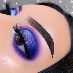 Purple Makeup Looks, Makeup Eye Looks, Eye Makeup Art, Cute Makeup, Gorgeous Makeup, Glam Makeup, Eyeshadow Makeup, Beauty Makeup, Eyeliner