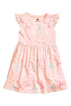 Robe en jersey - Rose clair/papillons - | H&M BE