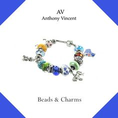 Tell your story with Anthony Vincent beads and charms.  #beads #charms #AV #jewelry