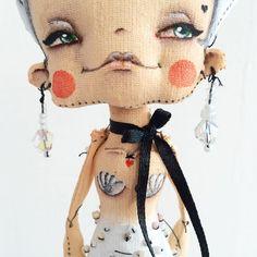 #doll Doll Crafts, Cute Dolls, Fabric Dolls, Softies, Doll Patterns, Traditional Art, Beautiful Dolls, Fabric Crafts, Doll Clothes