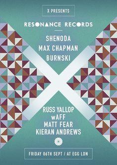 Resonance Records feat. Burnski | Egg | London | https://beatguide.me/london/event/egg-x-presents-resonance-records-shenoda-burnski-waff-max-chapman-matt-fear-20130906/poster/